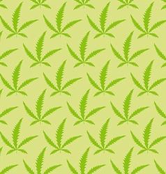 Marijuana leaves seamless pattern Narcotic vector image