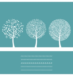 Musical tree8 vector image vector image