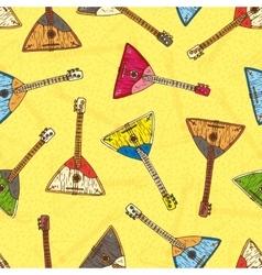 Seamless Pattern with Colorful Wooden Balalaikas vector image vector image