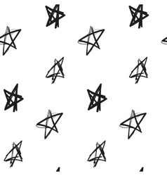 Stars painted imitation of ink on a white vector image