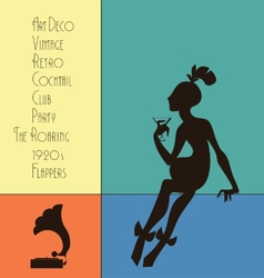 The roaring flappers girl design vector image vector image
