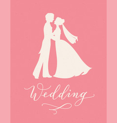 wedding design concept with bride and groom vector image vector image