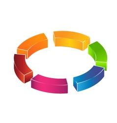 3D circle boxes Logo vector image vector image