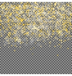 Abstract Golden Transparent Background Realistic vector image