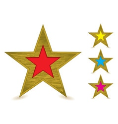 brushed metal gold award vector image vector image