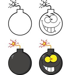 Cartoon bombs vector image vector image