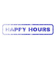 Happy hours rubber stamp vector