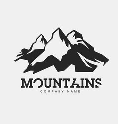 mountains abstract logo for adventure vector image vector image