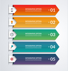 arrow infographic template with 3 steps vector image