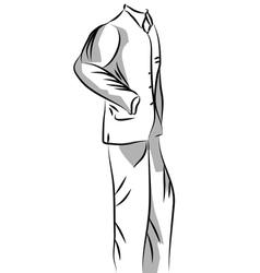 dress suit vector image vector image