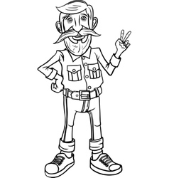 Hipster character design vector image