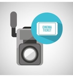 movie video camera cinema ticket vector image