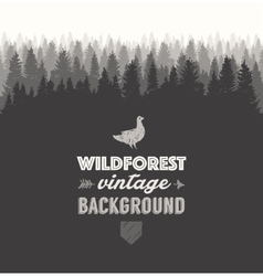 Pine forest template drawn vector image vector image