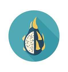 Pitaya flat icon Tropical dragon fruit vector image vector image