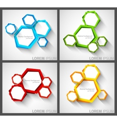 Set of background with hexagons vector image vector image
