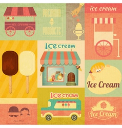 Set of Ice Cream Design Elements vector image vector image