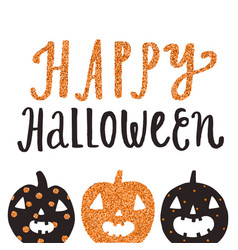 happy halloween cute greeting card vector image