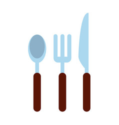 Spoon fork knife cutlery icon image vector