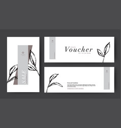 021-0320 voucher draw line ink vector image