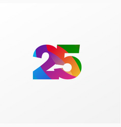 25 years anniversary celebration elegant color vector