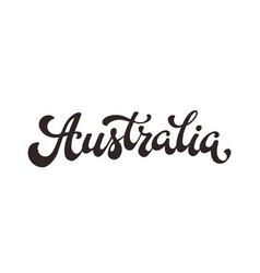 australia word vector image
