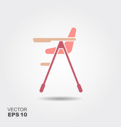 Baby high chair vector