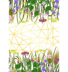 Background with seven herbs autumn equinox vector
