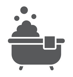 bath glyph icon real estate and home shower sign vector image