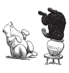 bears 10 vintage vector image