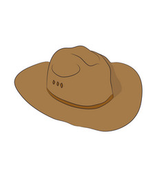 brown hat lies drawn vector image