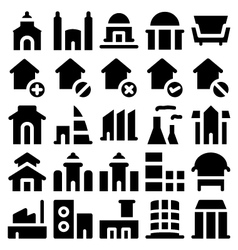 Building and Furniture Icons 3 vector image