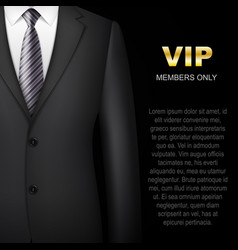 Business suit background invitation card vector