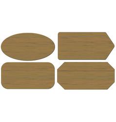 cartoon wood banners wooden planks set vector image