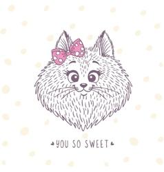Cat sketch doodle vector
