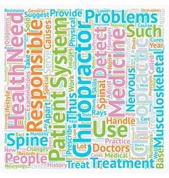 Chiropractors text background wordcloud concept vector