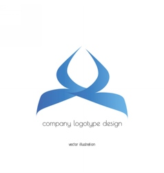 Company logo design blue vector