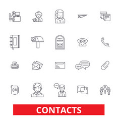 Contacts partners communication correspondence vector