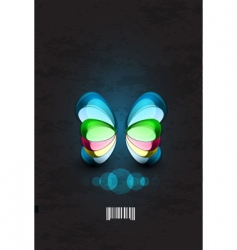 dimensional butterflies vector image