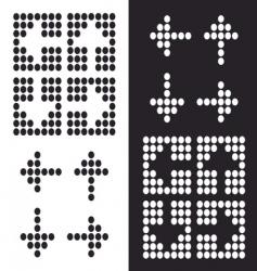 dot arrow icon vector image