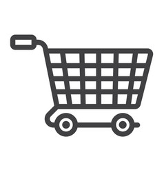Ecommerce solutions line icon seo and development vector