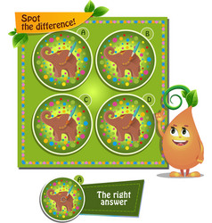 Elephant spot the difference vector