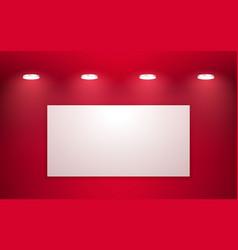 empty red studio room interior clean workshop vector image