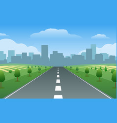 empty road city summer valley vector image