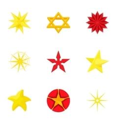 Figure star icons set cartoon style vector image