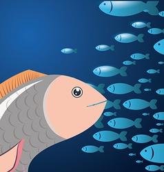 Fish icon design vector