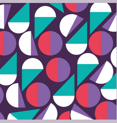 geometric figures and colors pattern background vector image