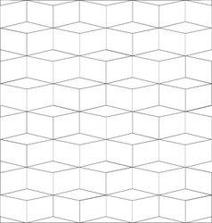 Geometric square box black line on white vector