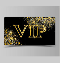 Golden vip party premium card vector