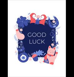 Good luck banner vector