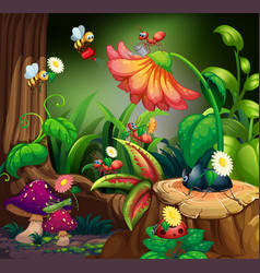 group in in fairy forest vector image